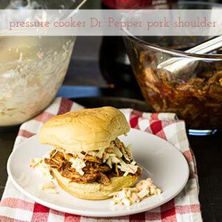 Pressure Cooker Pork Shoulder & Dr. Pepper BBQ Sauce.