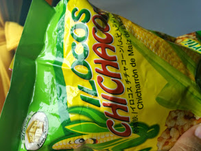 Photo: Munching on this on our way back to Manila