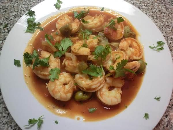 Shrimp In Red Sauce ( Camarones Enchilado)