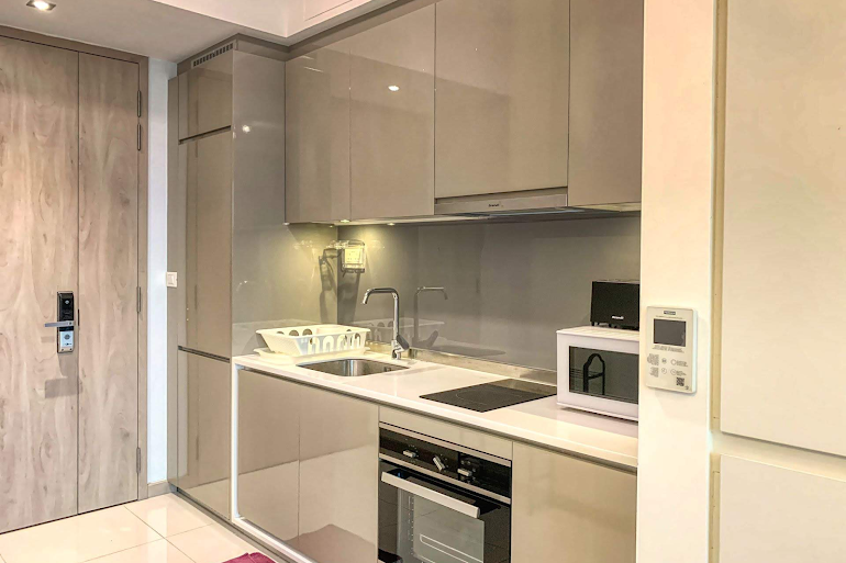 Full kitchen at Gateway Drive Apartments, Jurong