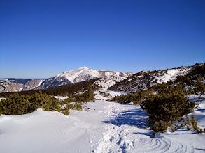 Photo: Seetal mit dem Schneeberg im Hintergrund.