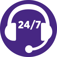 Simplified 24/7 Headset Illustration