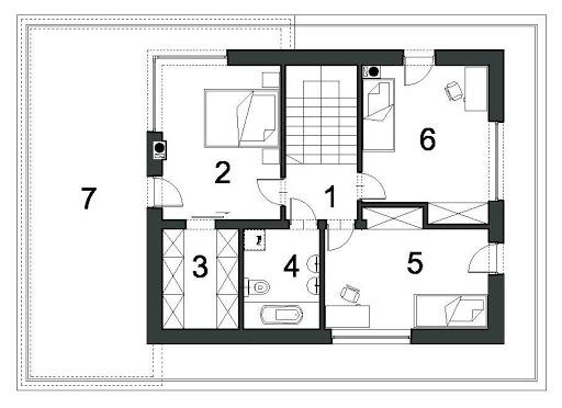 Szykowny D43 - Rzut piętra