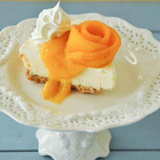 Cream Cheesecake with Mango Cardamom Coulis Recipe