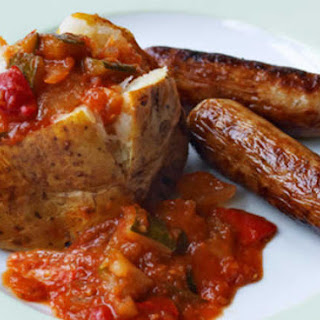 Sausage & Potato With Ratatouille.