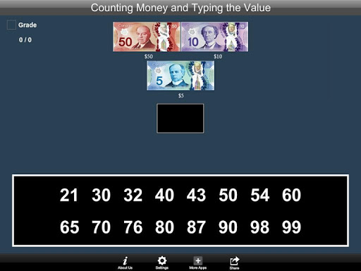 Canadian Counting Money and Typing the Value Lite 1.1 screenshots 5