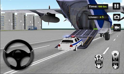 경찰 자동차 비행기 운송|玩賽車遊戲App免費|玩APPs