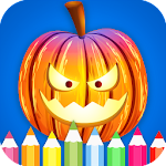 Halloween Coloring Book Pages:Kids Coloring Game Icon