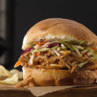 Slow-Cooker Asian Pulled Chicken Sandwiches.