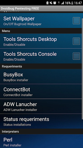 Droidbug Pentesting & Forensic FREE app (apk) free download for Android/PC/Windows screenshot