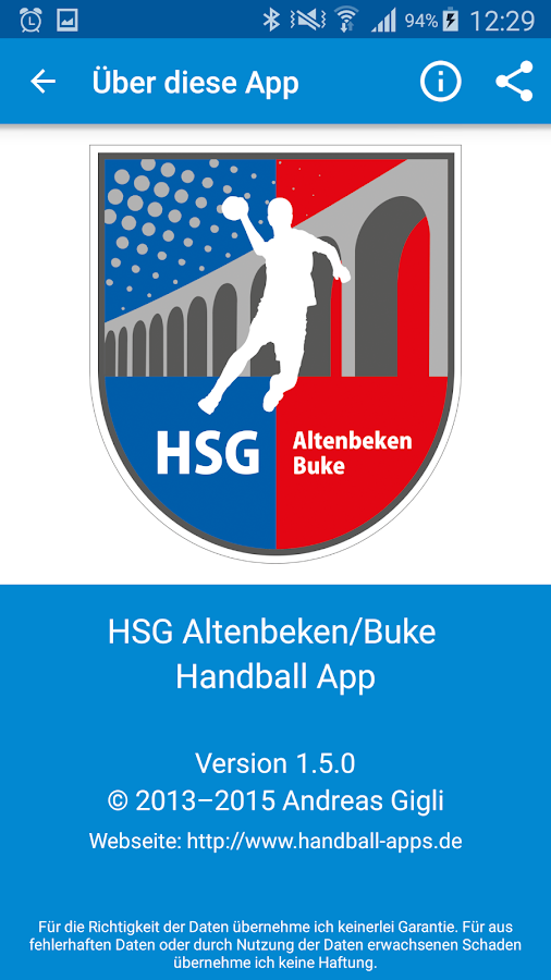 HSG Altenbeken/Buke- screenshot