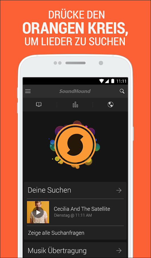 SoundHound Musik & Songtexte- screenshot
