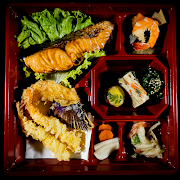 Grilled Salmon Gozen Bento