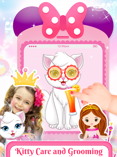 Pink Little Talking Princess Baby Phone Kids Game screenshot 4