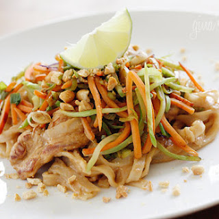 Asian Peanut Noodles with Chicken – Lightened Up.