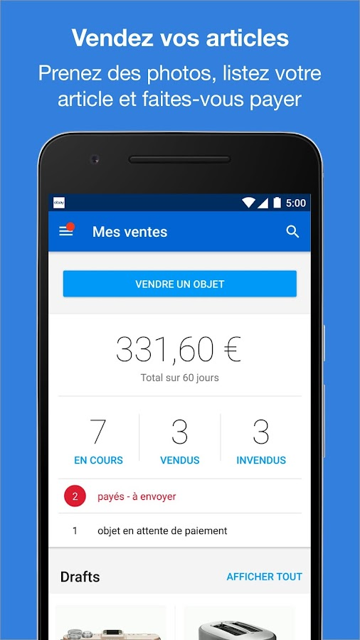 ebay - achat, vente, enchères – applications android sur google play