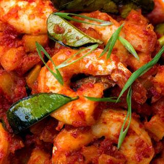Shrimp and Potatoes in Sambal (Sambal Goreng Kentang Udang)