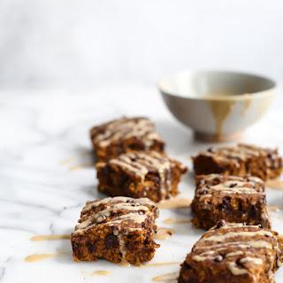 Gluten-Free Vegan Chocolate Chip Pumpkin Oatmeal Breakfast Bars.