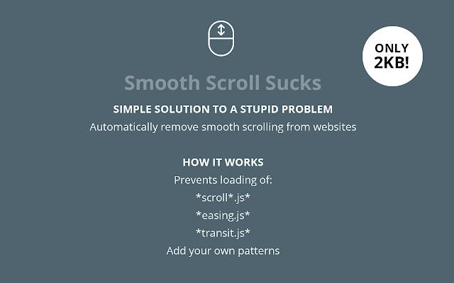 Smooth Scroll Sucks