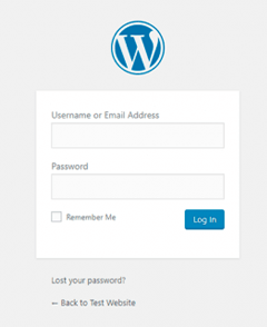 Make a Photography Website with WordPress - WordPress Login