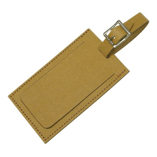 Recycled Leather Luggage Tag