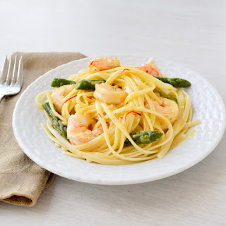 Shrimp Linguine with Saffron Cream Sauce