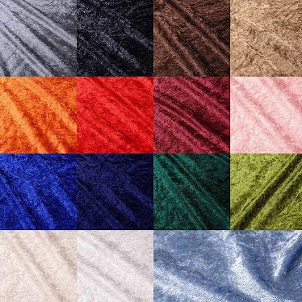 Krossad sammet - många färger
