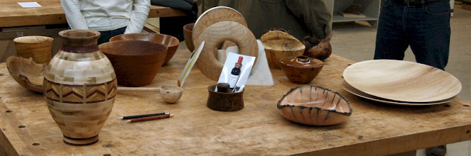 Photo: The Show & Tell table has a wide variety of interesting pieces, as usual.