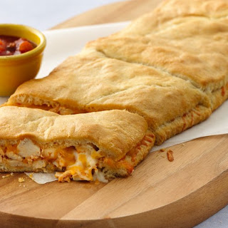 Grands! Crescent Enchilada-Stuffed Sandwiches.
