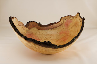 "Photo: Richard Webster 12"" x 6"" natural edge bowl [dogwood]"