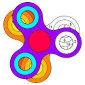 Fidget Spinnner Paint by Number - Adult Color Book