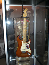 """Photo: Guitar Center Legends booth: Stevie Ray Vaughan's """"Lenny"""""""