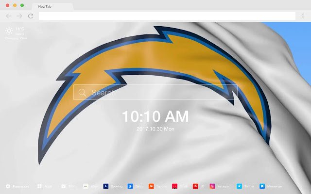 LA Chargers New Tab HD Wallpapers Theme