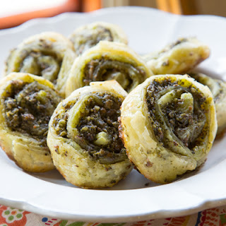 Savory Pesto Pinwheels.