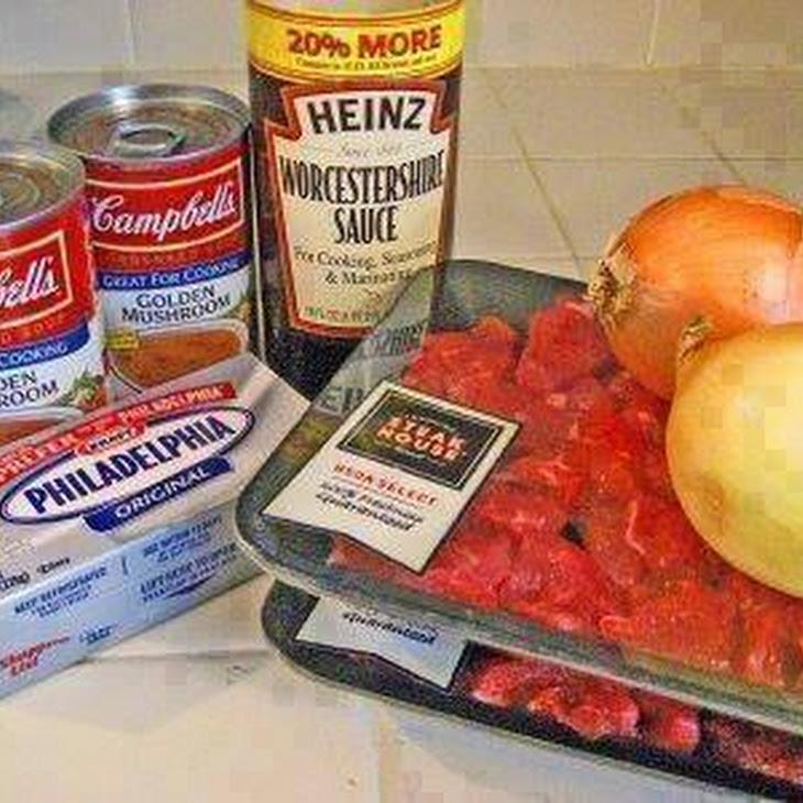 Absolute BEST Crockpot Beef Stroganoff