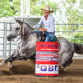 Easy Third by Sarah Sullivan - Sports & Fitness Other Sports ( #barrel racing, #dalby, #sarahsullivanphotography, #this is how we do it, #qbra )