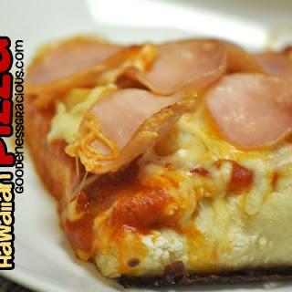 Deep Dish Hawaiian Pizza.