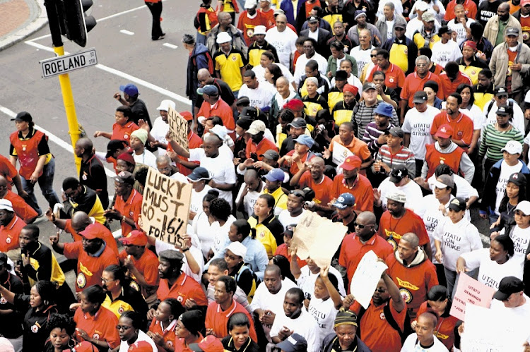 Striking public service workers are planning socially distanced marches in all major cities on Wednesday.
