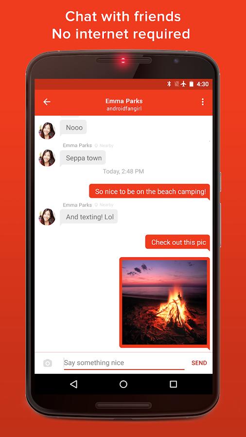 FireChat - στιγμιότυπο οθόνης