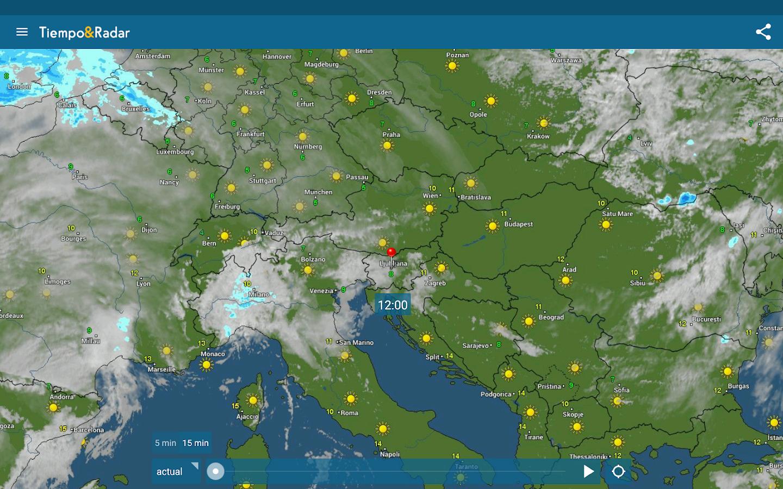 Tiempo radar widget del tiempo gratis aplicaciones de for Aplicacion del clima