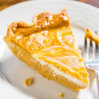 Pumpkin Cream Cheese Pie.
