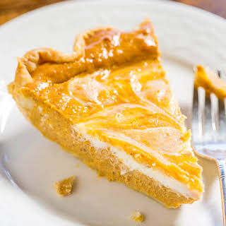Pumpkin Cream Cheese Pie.