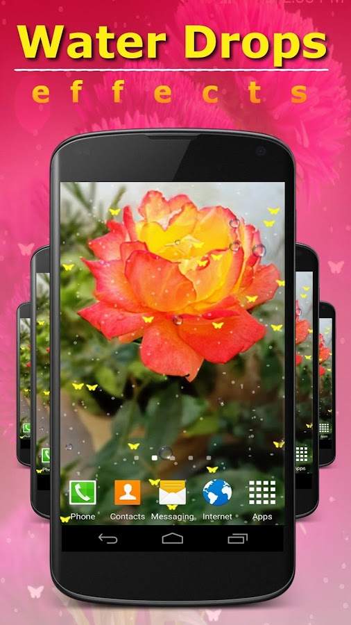 Screenshots of Live Wallpaper - Flowers for iPhone
