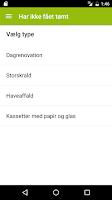 Screenshot of Affaldsportal