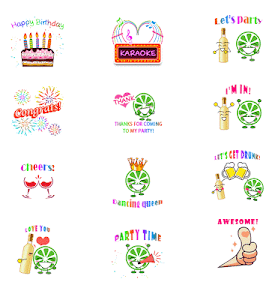 Party Sticker GIF Free screenshot 7