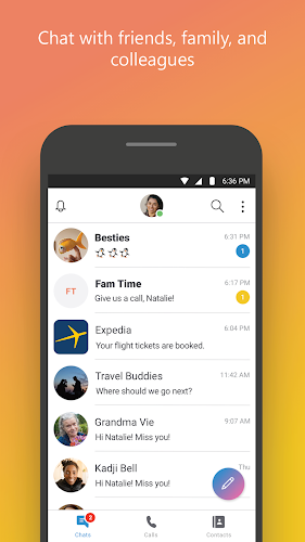 Skype - Talk. Chat. Collaborate. Android App Screenshot