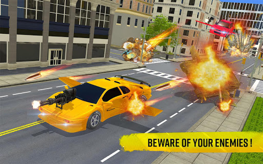 Flying Car Shooting Game: Modern Car Games 2020 screenshots 12