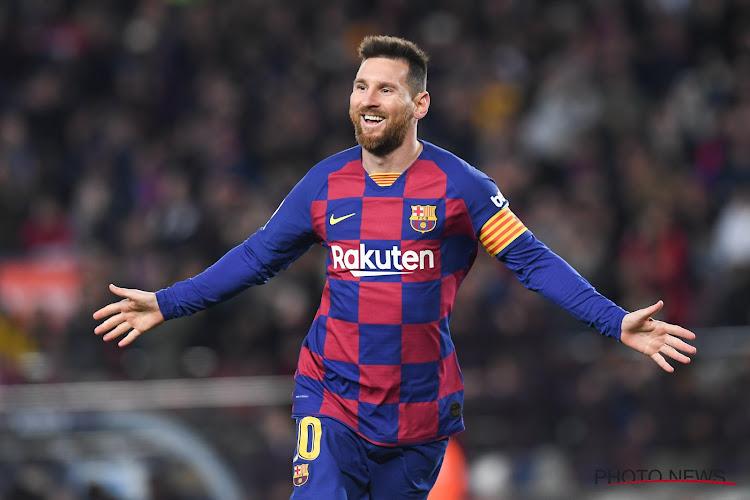 Lionel Messi adresse un message aux supporters