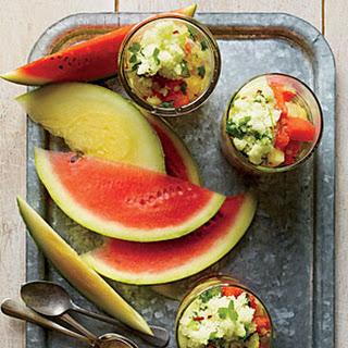 Watermelon with Tangy Granita