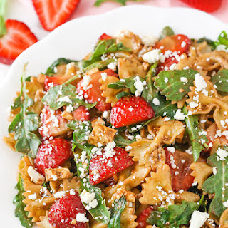 Strawberry Feta Balsamic Pasta Salad Recipe